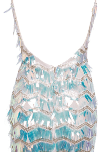 Sexy strap glitter bodycon party dress Mesh splice backless mini dress Geometric elegent high waist dress summer women