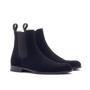 Black Onyx Chelsea Boots. Black Suede