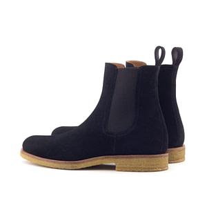 Black Onyx Crepe Chelsea Boots
