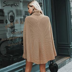 Knitted turtleneck coat sweater Women Camel casual sweater Autumn winter streetwear women sweaters and sweaters 2018