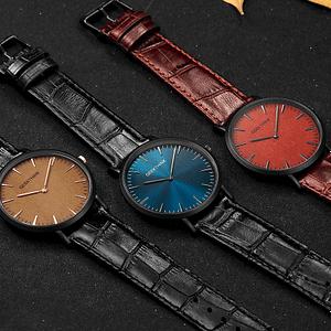cheap leather strap watch elegant fashion style Men 1