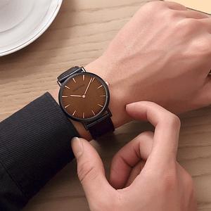 cheap leather watch elegant fashion style Men 3