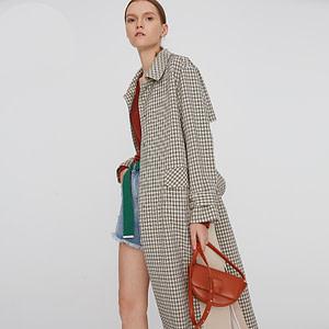 Toyouth-Autumn-Plaid-Trench-Coat-For-Women-Turn-Down-Collar-Pocket-Long-Coat-Korean-Long-Sleeve-0