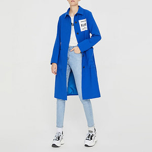 ForstepStyle - Marketplace - Toyouth-Blue-Long-Trench-Coat-For-Women-Stright-Ladies-Winter-Trench-Coat-Solid-Embroidery-Overcoats-Automne-0