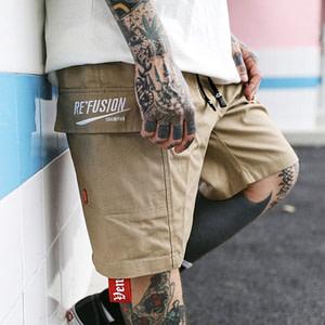 mens-shorts-beige-kanye-west-streetwear-summer-cargo-shorts-for-men