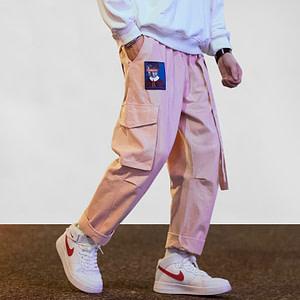 pink cargo pants
