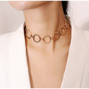 gold-choker-circle-s-women-s-cheap-necklaces-gift-present