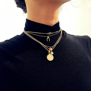 mulit-layer-pendant-necklace-gold-women-chic-vintage-acceessories