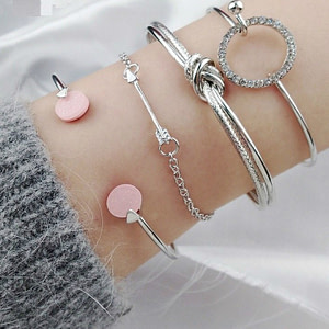 multi layered silver bracelet - cheap women's bracelets