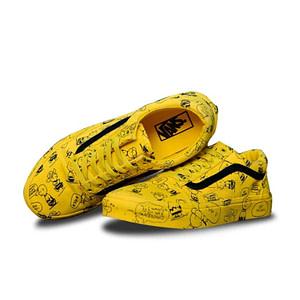 vans yellow snoopy