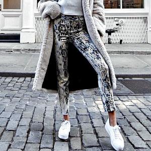 snake print jeans - grey=snake-print-pants-for-women-casual-vintage-90s-fashion-pants