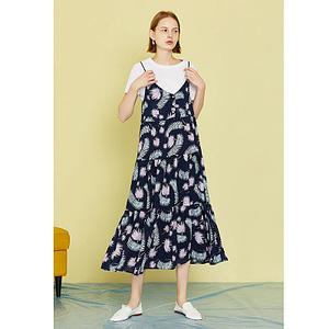 boho-floral-sleeveless-dress-spaghetti-strap-long-v-neck-dress