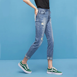 blue-ripped-mid-waist-jeans-for-women
