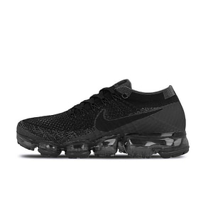 Womens Nike Running Shoes All Black Sneakers - NIKE Air VaporMax Flyknit