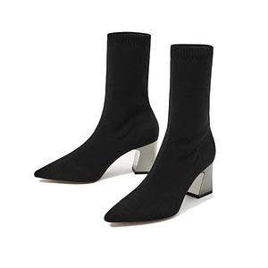 sock boot heels