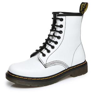white biker boots