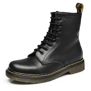black ankle biker boots