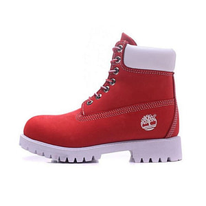 red and white timberland