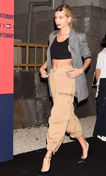hailey bieber cargo pants