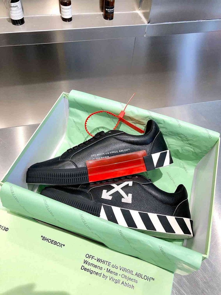 off white sneakers in box
