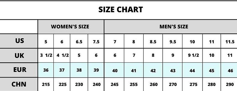 yeezy size chart