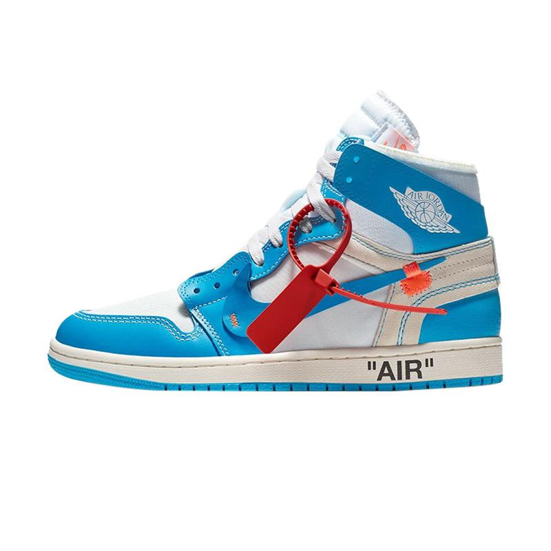 Nike Air Jordan 1 Off White - Blue Color